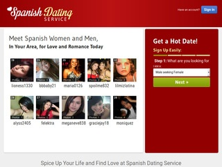 Spanish Dating Service Homepage Image